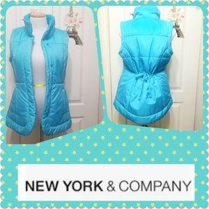 New York & Co Puff Bomber Vest